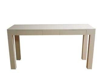 MOVING SALE White Parsons Console Table 1970s