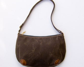 "Mini ""Round-the-World"" Bag - Dark Brown (Wax)"