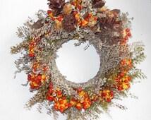 Autumn Beauty Mini Wreath or Candle Ring