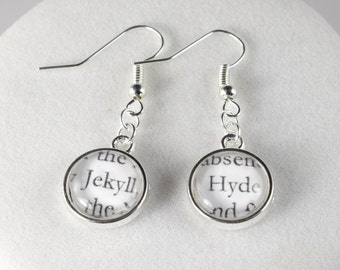 Dr Jekyll & Mr Hyde Earrings // Famous Pairs Literary Jewelry