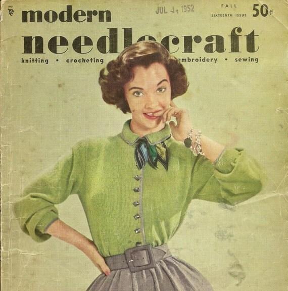 Fall modern needlecraft magazine patterns for knitting