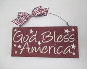 Wooden Americana Sign - July 4th - Fourth of July Wooden Sign