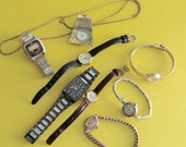 RESERVED FOR ANGELA Watches 7 Vintage Timepieces