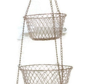 Vintage Three Tier Basket