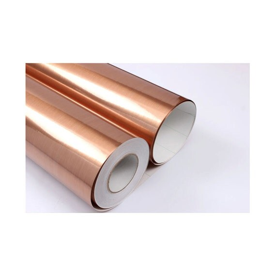 Brushed Copper Metal 3m Covering Self Adhesive Shelf And