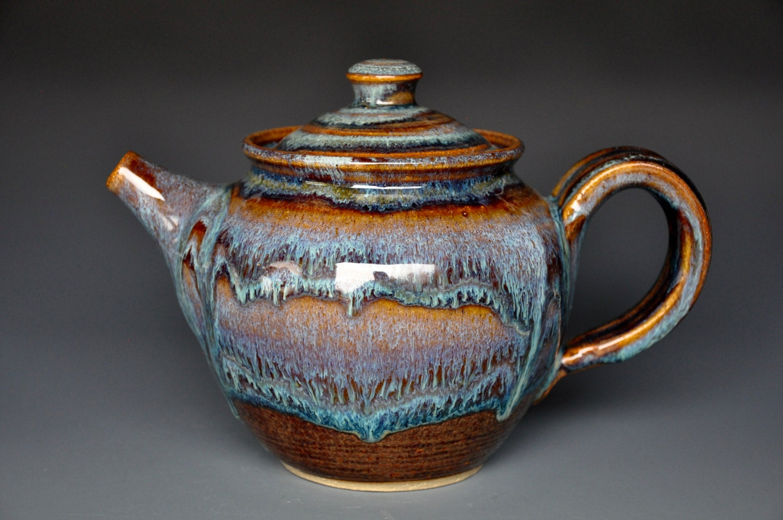 Handmade Pottery Teapot Ceramic Teapot Stoneware Teapot A