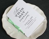 Modern Typography Wedding Program / From This Day Forward 'Wedding Ceremony' Pocket-sized Order of Service Booklet / Minimalist / ONE SAMPLE