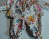 "Baby Alive  And Waldorf Doll Clothes Pink Retro Monkeys  Pajamas 10"" 12"" 15"""