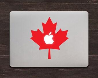 Canadian Maple Leaf Canada MacBook Decal Sticker BAS-0334