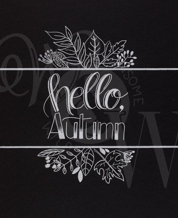 Hello, Autumn! Print