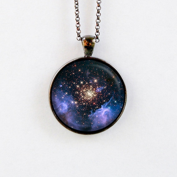 outer space jewelry astronomy necklace galaxy by starlightbags