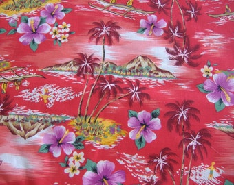 One Yard Tropical Theme Cotton Fabric