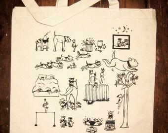 Jack Russell Terriers Market Tote Bag
