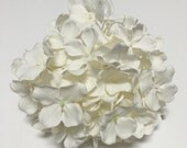 Silk Flowers - One Hydrangea Head in Cream White - Artificial Flowers