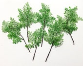 Artificial Fern - Plastic Maidenhair Fern Stems 6 Pcs - Artificial Greenery, Leaves, Filler, Bouquets