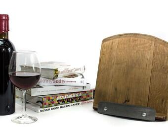 Wine Barrel Cookbook Holder // Cookbook Stand // Tablet Stand // SUPPORT
