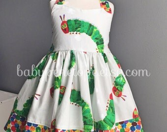 The Marilyn Dress - The Very Hungry Caterpillar -  Birthday Dress - Birthday Outfit - Birthday - Vintage Inspired Dress for Girl