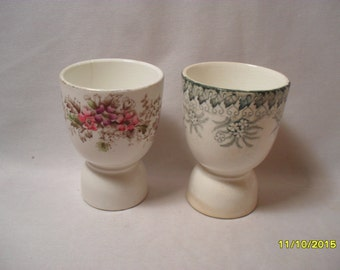 Lot of 2 Antique Egg Holders or Eggcups