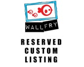 Reserved Custom Listing - 2 x custom dog prints