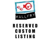 Reserved Custom Listing - 2 x custom dog prints