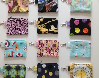 Change Purse, Coin Purse, Gift For Coworkers, Small Zippered Pouch, Gift for Coworker, Gift for Teens, Gifts Under 10