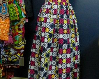 Bella Duafe Maxi Print Skirt