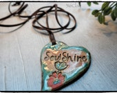 Essential Oil Diffuser Pendant  Rose Peach Blue   Make a statement with your jewelry!
