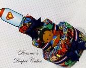 Super hero Baby Diaper Cake Shower Gift Centerpiece Superhero