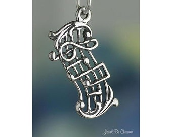 Sterling Silver Music Notes Charm Musical Score Musician Solid .925