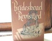 "1940s Classic Novel ""Brideshead Revisited"" 1945 Little, Brown Hardcover Book by Author Evelyn Waugh, Adapted 1981 TV Serial Jeremy Irons"
