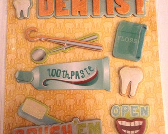 K & Company LLO  -- Dentist --  NEW --  dimensional stickers  (#2230)