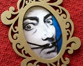 Dali painted portrait print ornament