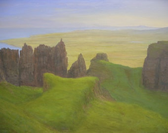 Isle of Skye  the Quiraing and the Table ~ original oil painting