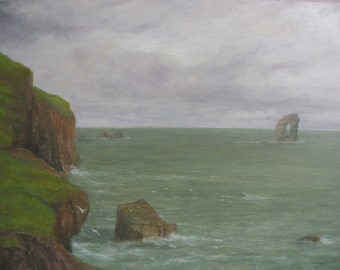 Shetland ~ Foula ~ The Gaada Stack.....oil painting