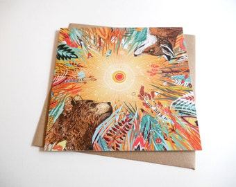 Whirlwind // Square Greeting Card