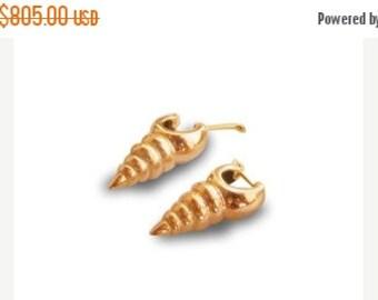 GOLD EARRINGS SPIRAL 9k Gold Earrings, 9k Gold , Silver Earrings, Earrings, cremerdani, unique gipsy style,mens earrings, womens earring