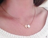 Rose gold Initial necklace- Personalised, statement Gold necklace, disc necklace,  initial necklace- large disc, large monogram