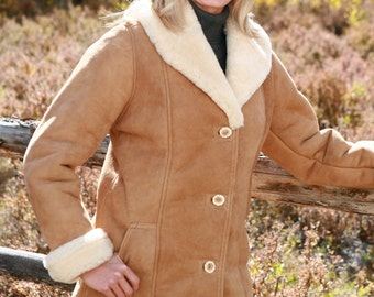 Ladies Sheepskin Cattleman Coat