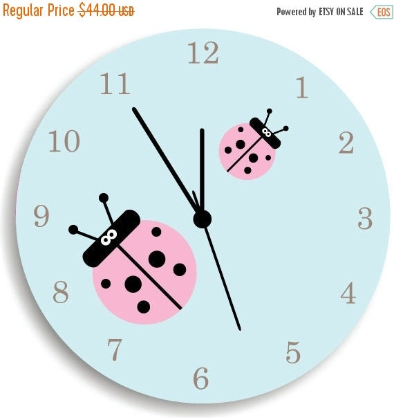 HOLIDAY SALE Girls Wall Clock Children Room by ...