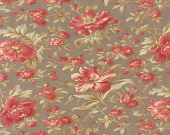 Larkspur - Garden Blooms in Cobblestone by 3 Sisters for Moda Fabrics