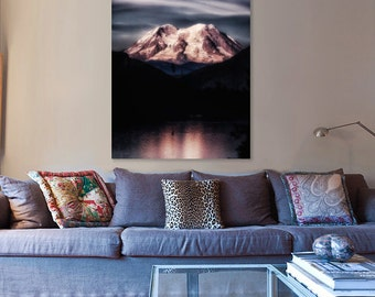 Canvas Art, Mountain, Blue, Sky Blue, Midnight Blue, fPOE, 12x16, 14x14, 16x20, 18x24, 20x30, 24x32, 30x30, 30x40, 40x60