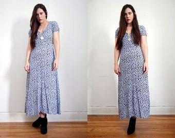 Vintage Floral Dress Grunge Revival 90's Dress