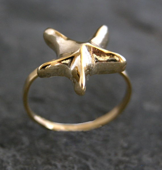Star Ring , Gold Star Ring ,Women's Gift, Starfish Ring, Gold Ring,  Gold Sea Star Ring, Wedding Jewelry Bridal Ring, Bridesmaid Gift