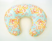 Floral Boppy Cover - Minky Boppy Cover - Orchard Blossom Spring - Personalized Boppy Cover