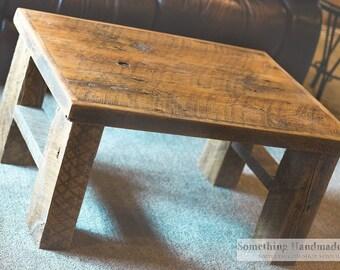 Barn wood coffee table made from 1892 reclaimed  barn wood