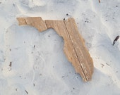 Wood state Florida (or any state) made of recycled fence wood. state decor  state cutout