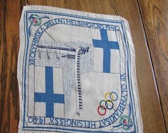 1940 Finland Summer Olympics Handkerchief