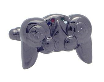 Gunmetal Game Controller Cufflinks