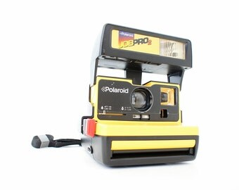 Yellow Polaroid Camera Job Pro 2 - Film Tested Working