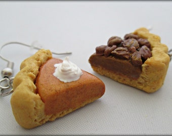 Pumpkin Pecan Pie Earrings